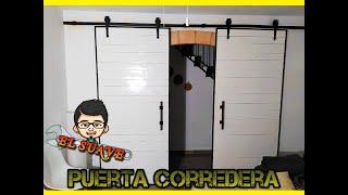 COMO HACER PUERTA CORREDERA CON PALETS
