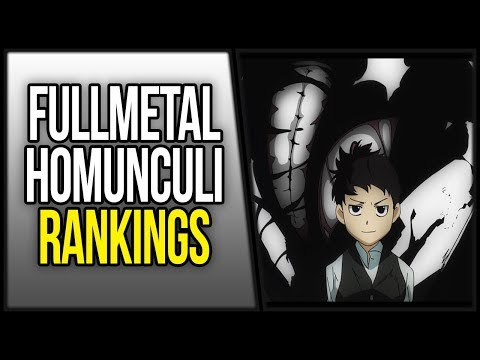 Ranking Fullmetal Alchemist Brotherhood Homunculi