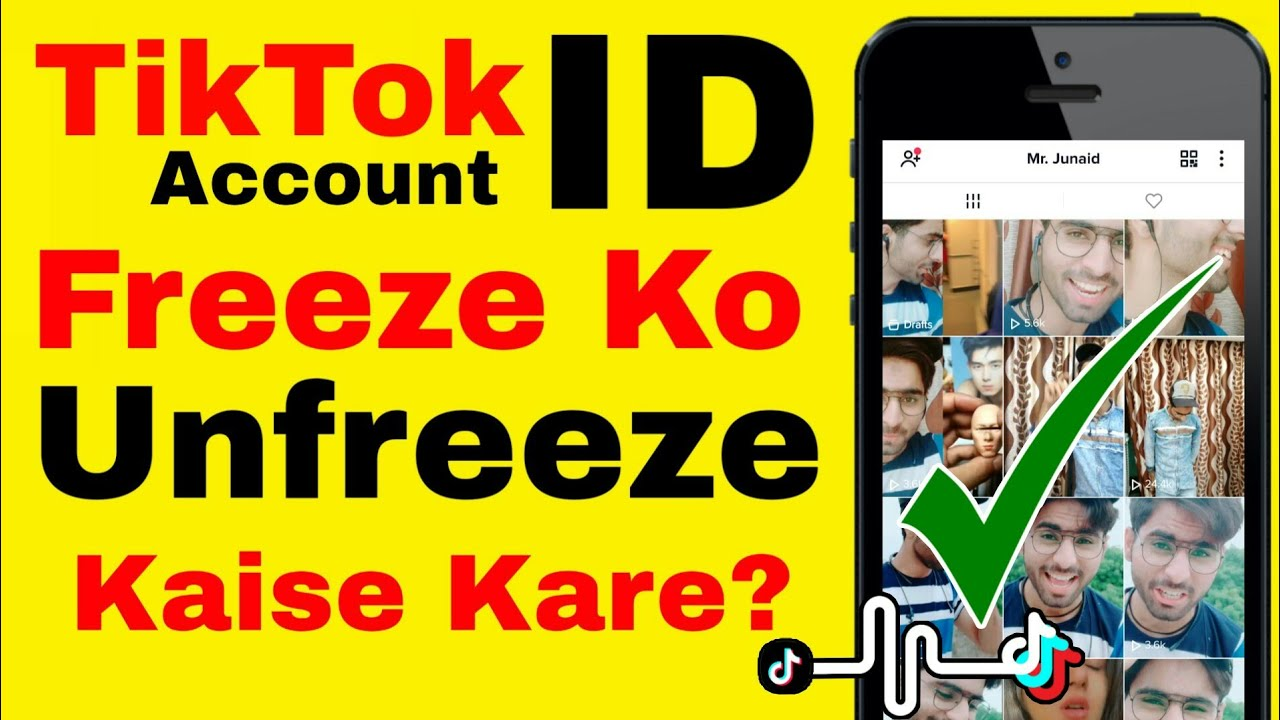 How to Unfreeze TikTok Id/Account TikTok Account Freeze Problem Solution ?