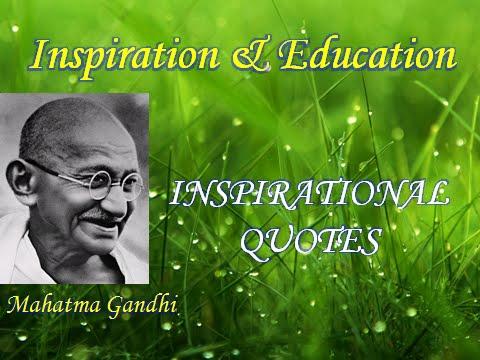 Mahatma Gandhi Inspirational Quotes Youtube