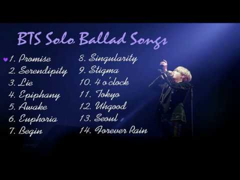 Playlist Bts 방탄소년단 Solo Ballad Songs  For Studying, Relaxing And Sleeping...