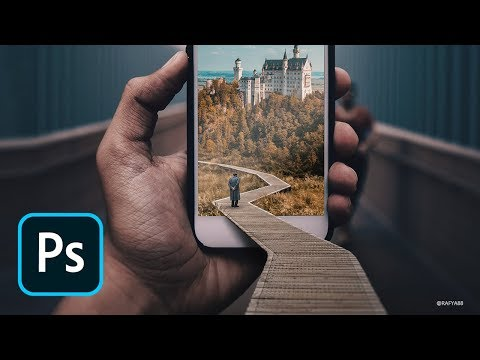 Phone Pop Out Effect Photo Manipulation Photoshop Tutorial