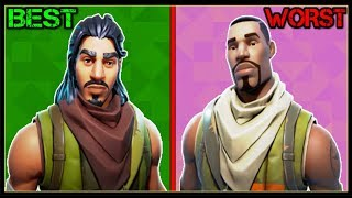 RANKING EVERY DEFAULT SKIN FROM WORST TO BEST! (Fortnite Battle Royale!)