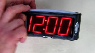 Review Travelwey LED Digital Alarm Clock - Outlet Powered, Simple Operation