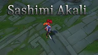 Sashimi Akali 2020 SkinSpotlight - League of Legends