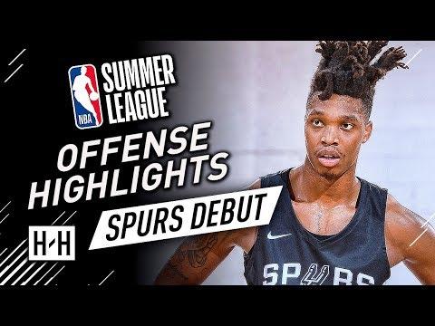 Lonnie Walker IV Full Offense & Defense Highlights at 2018 NBA Summer League  SA Spurs Debut!