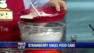 Strawberry Angel Food Cake With Chris Taylor  From Spring Baking Championship & Karen Graham