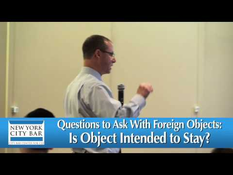 NY Medical Malpractice Law-Foreign Objects-Attorney Gerry Oginski Lectures to NYC Bar