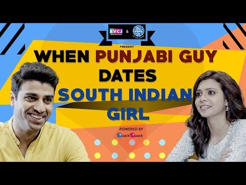 When Punjabi Guy Dates South Indian (Tamil) Girl | Ft. Shreya Gupto & Rohan Khurana | RVCJ