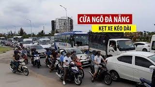 Kẹt xe kéo dài ở cửa ngõ Nam Đà Nẵng vì tai nạn liên hoàn