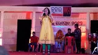 Nuakhaibhetghat prgm. Benglore. Stage performance.Sanju Mohanti. Song.Baula makar(Copy right recevd)