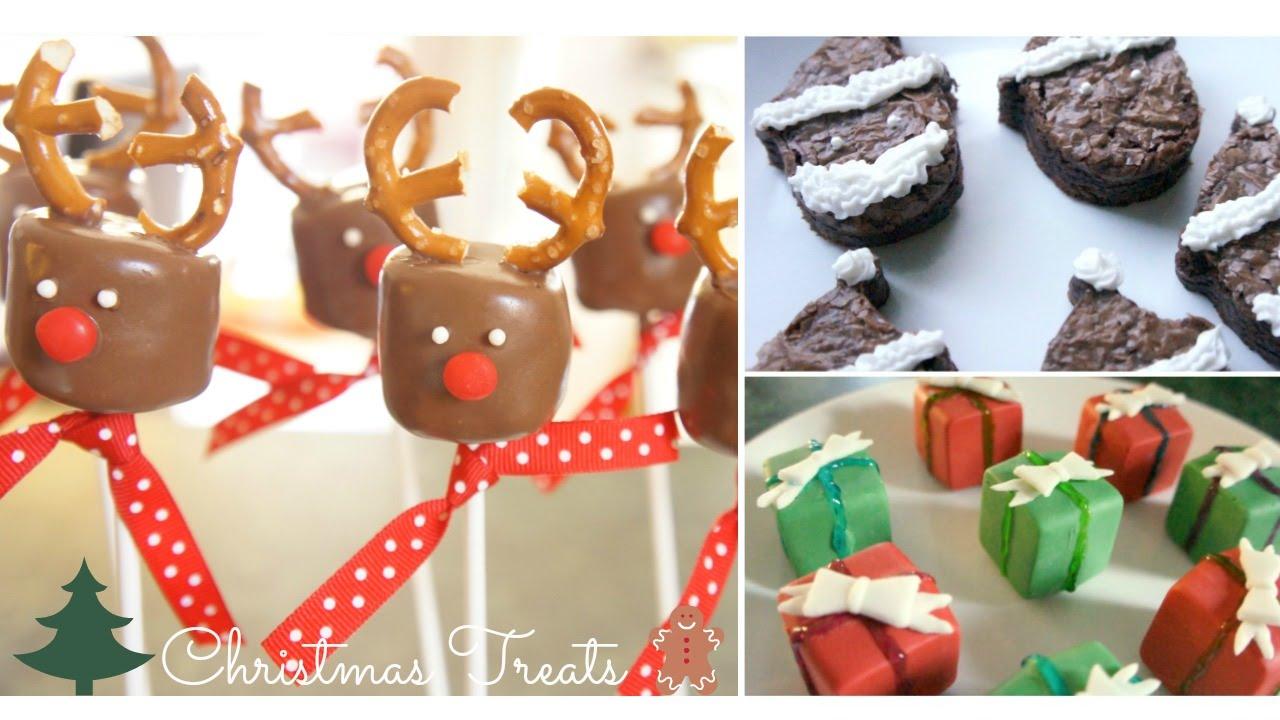 3 Diy Christmas Treats Reindeer Marshmallow Pops Santa