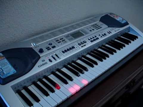 Casio keyboard LK-90 plays itself and the keys light up, great learning tool = fineartsemporium ebay