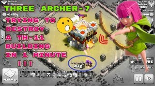 Clash Of Clans | one of the Closest WAR ATTACK in history | TRAGEDY of LAST MOMENT with 3 ARCHERS