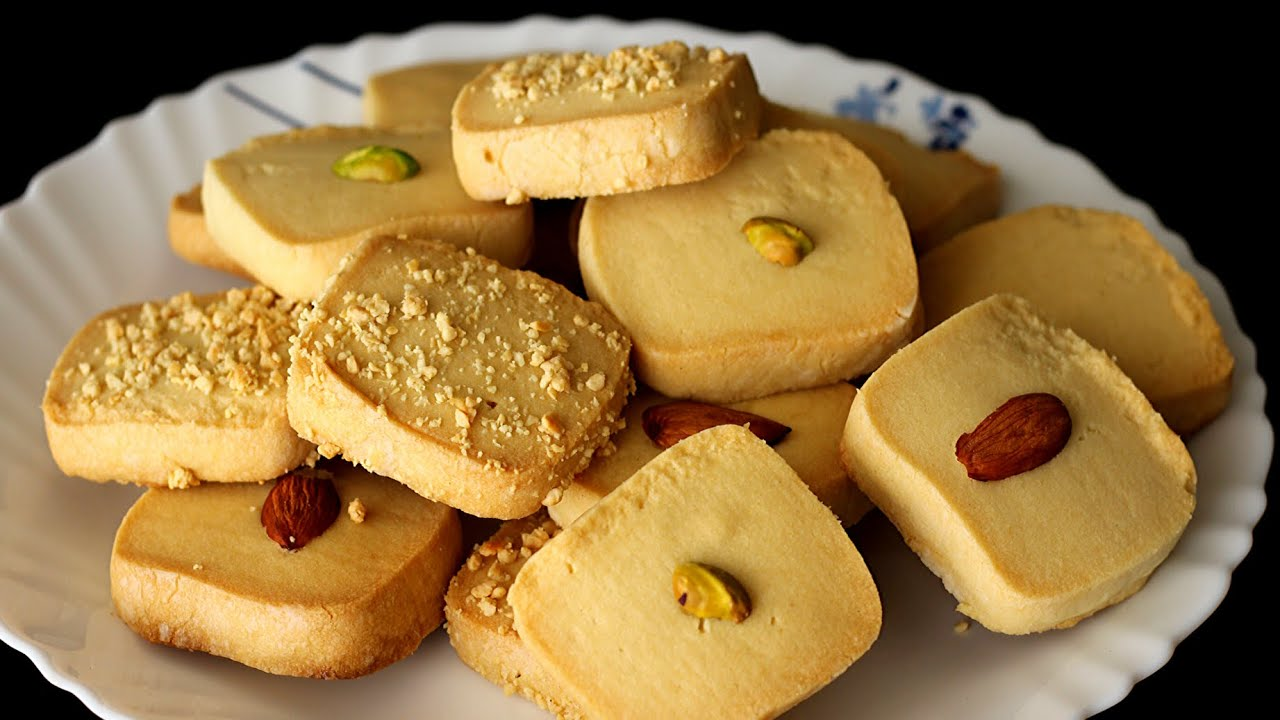 Easy Eggless Butter Cookies Recipe   Homemade Butter Biscuits [ with TIPS ]