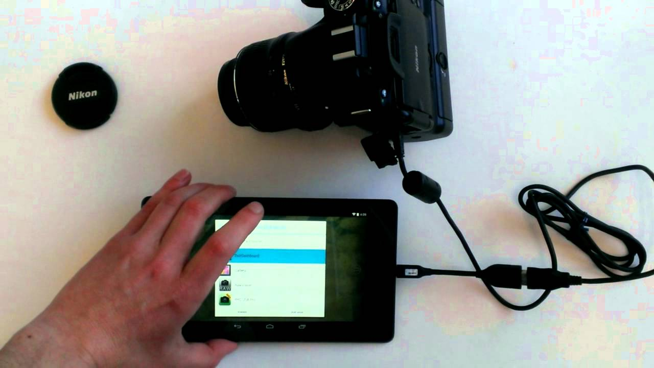 how to control a nikon dslr through an android tablet. Black Bedroom Furniture Sets. Home Design Ideas