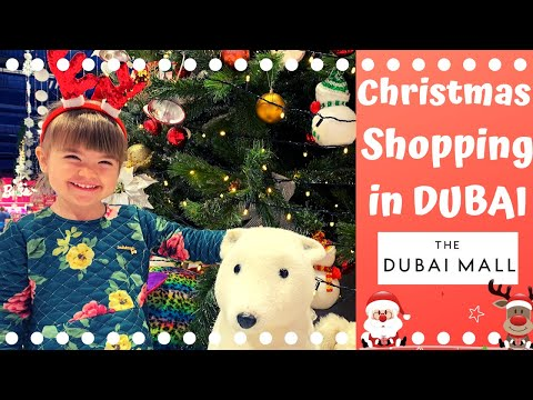 CHRISTMAS SHOPPING in Dubai Mall- The most beautiful shops! 🎅🎄💰🇦🇪