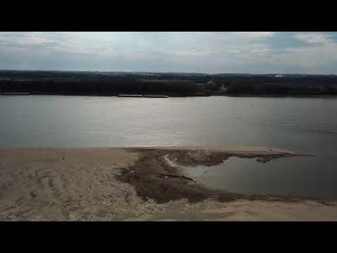 Kayaker on Mississippi River