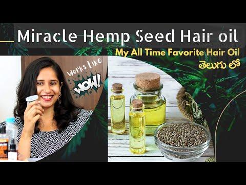 Hemp Seed Hair Oil For Fast Hair Regrowth and Strong Hair Follicles