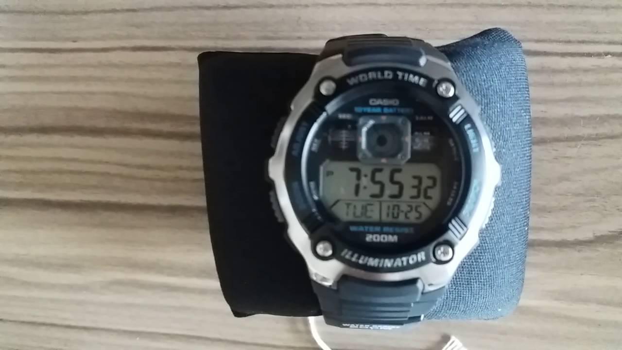 600a3f4aecb Relógio casio AE-2000W-1AVDF - YouTube
