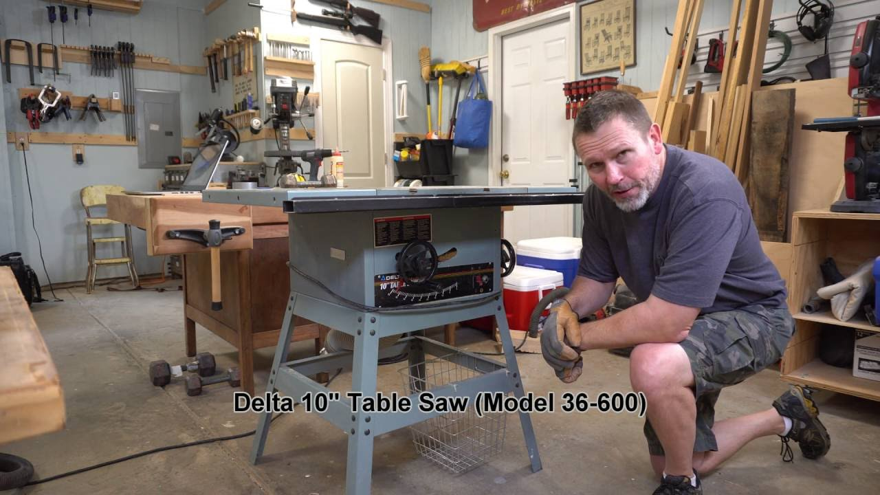 Replacing Belt And Brushes On Delta Table Saw Youtube