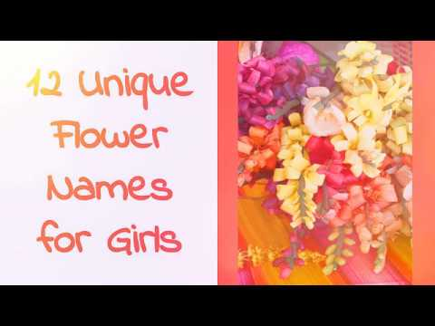 12 Unique Flower Names For Girls