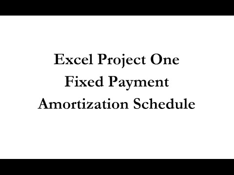 Acc 231 Fixed Payment Amortization Schedule
