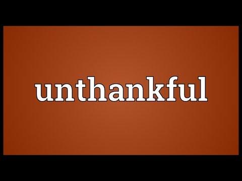 Header of unthankful