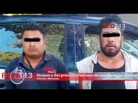 VIDEO Atrapan a dos presuntos ladrones de autopartes en Zitácuaro