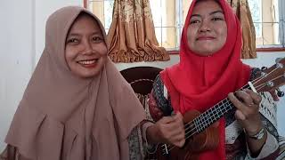 Gambar cover Sembilu BerBisa - Iwan Salman    Lagu Malaysia    Cover Ukulele Indah sarii feat Dewi Sartika