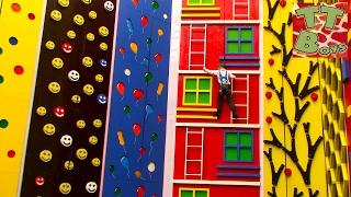 ВЛОГ на Скалодроме ИГОРЕК АЛЬПИНИСТ Пытаемся забраться на самую вершину скалы Видео для детей