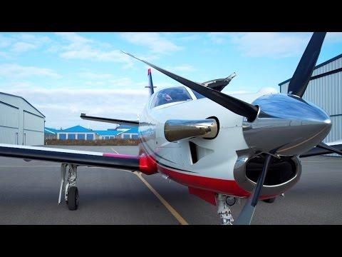 PPL / IFR Turboprop Flying - TBM850 - Turbine engine start - ATC audio + Ferrari :)