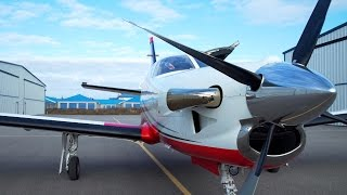 PPL / IFR Turboprop Flying - TBM850 - Turbine engine start - ATC audio + Ferrari :)