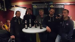 Pressekonferenz nach dem Spiel Schongau Mammuts gegen Icehogs Pfaffenhofen am 20.10.2017