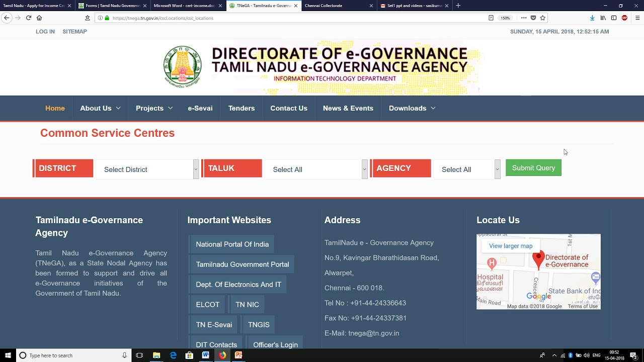 Tamil Nadu - Apply for Income Certificate