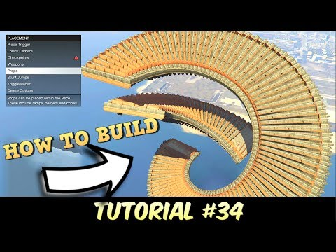 TUTORIAL #34 - Single Line Barge Spirals - How to build ( GTA 5 Content Creator )