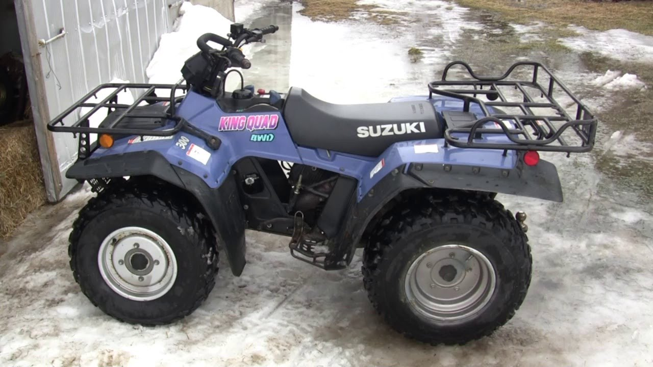1994 suzuki king quad 300 walk around and ride youtube. Black Bedroom Furniture Sets. Home Design Ideas