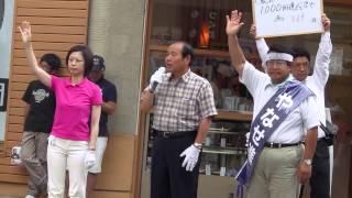 福田昭夫衆院議員、やなせ進の応援演説 田中美絵子 検索動画 25