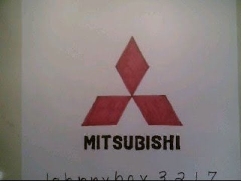 How To Draw Mitsubishi Logo Symbol Emblem Sign Car Auto Doodle