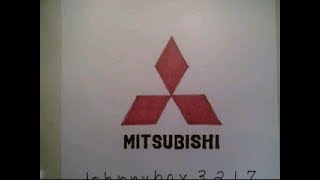 How To Draw Mitsubishi Logo Symbol Emblem Sign Car Auto Step By Tutorial