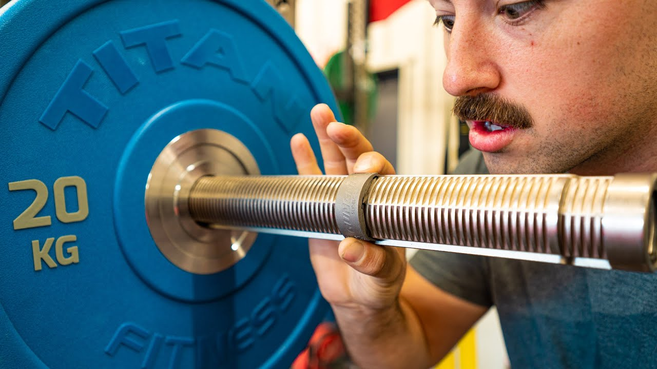 The Olympic Barbell w/ Built-In Collars...