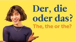 Der, Die Oder Das | German Articles | German In 60 Seconds