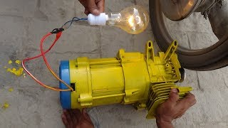 how to get free electricity from 3Kw old dynamo generator and motorcycle 220v free energy