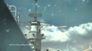 "the BATTLESHIP videogame trailer ""Tactical Naval Warfare"""