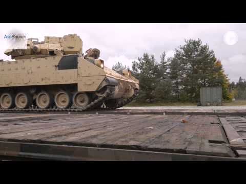 US Military Ironhorse Brigade - Railhead Operation in Europe