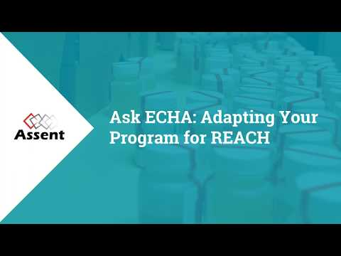 [Webinar] Ask ECHA: Adapting Your Program for REACH Updates