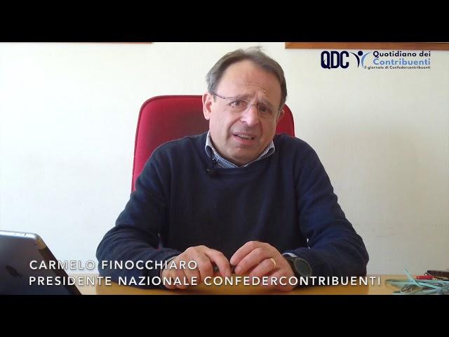 Il Presidente Finocchiaro interviene sulla questione fiscale