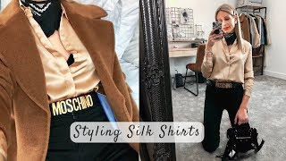 Silk Shirts | 3 Ways To Wear | Styling Casual Outfits
