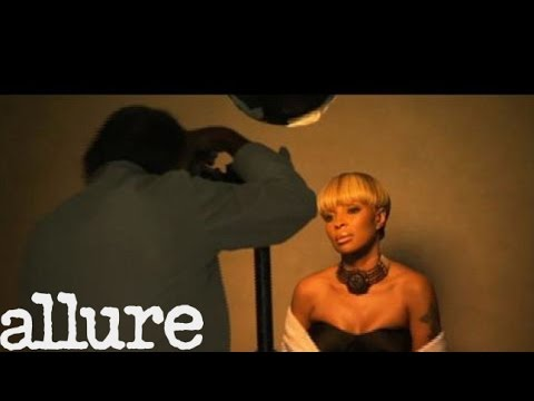 Mary J. Blige Behind the Scenes - Cover Shoots - Allure