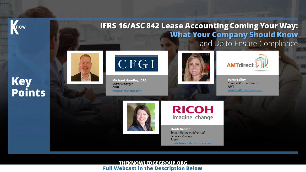 IFRS 16/ASC 842 Lease Accounting CPE